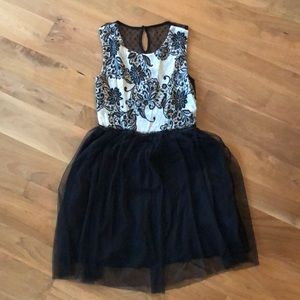 Anthropologie dress with tulle skirt